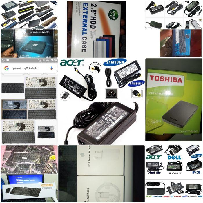 Carregadores de laptops, baterias de laptops, Lcd's de laptop, teclado
