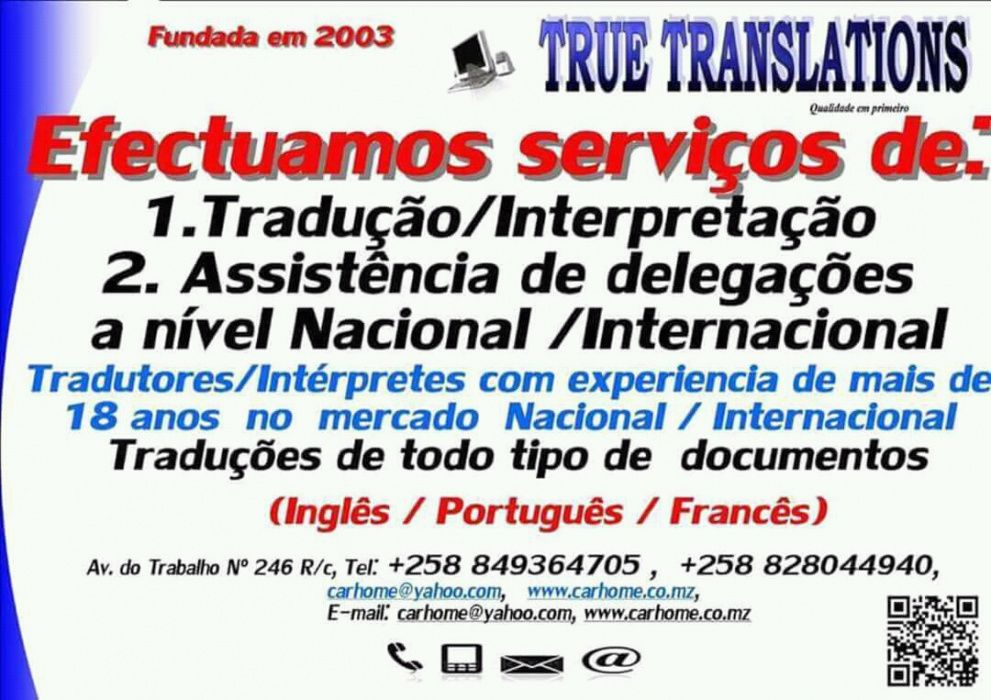 Tradutor / Traducao Oficial Ajuramentado Port/Ing