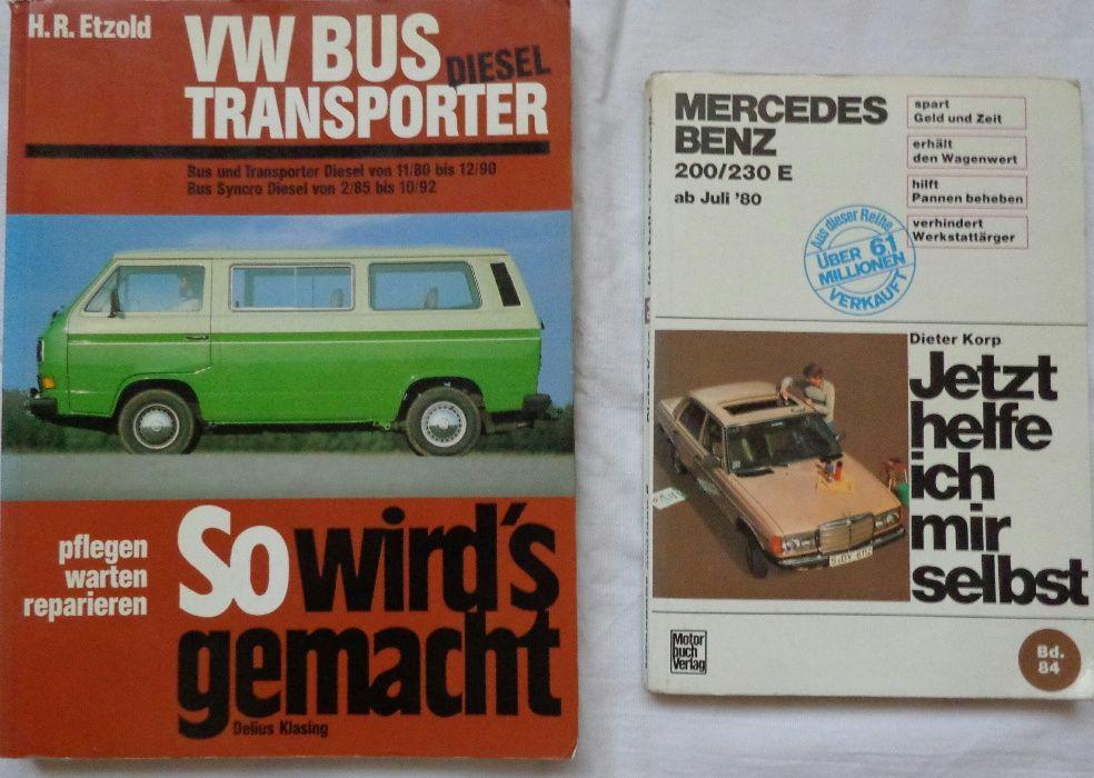 Книги за ремонт на автомобили VW Bus Transporter, Mercedes- Benz 123