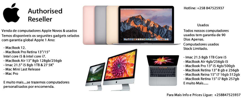 Venda de macbooks novos