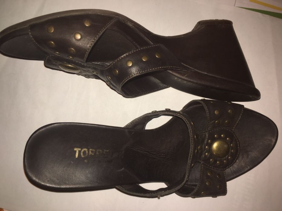 8ca90bc3e56 НАМАЛЕНИЕ Италиански кожени на платформа чехли сандали