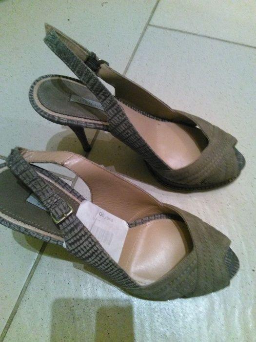 Елегантни нови сандали на висок ток, естествена кожа