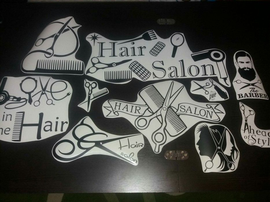 Stickere autocolante Fizerie/ Hair Salon