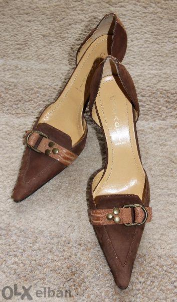 Елегантни обувки Casadei - естествена кож