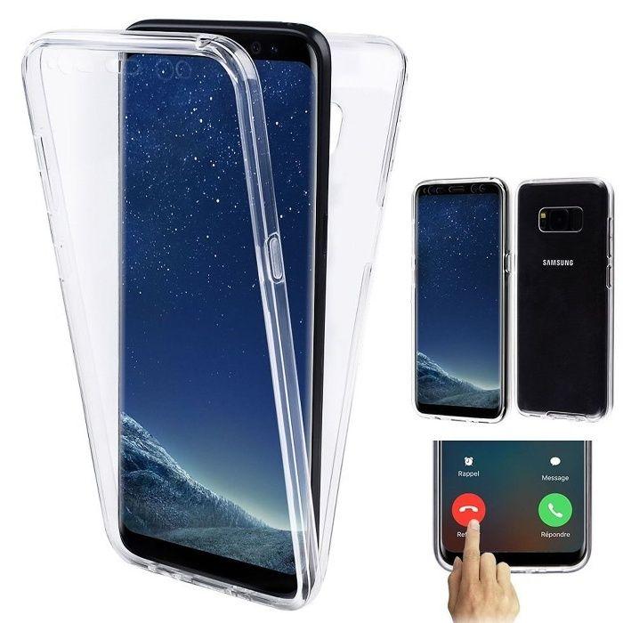 Husa 360 Din Silicon Transparent Fata Spate - Samsung Note 8
