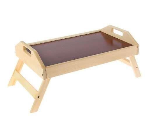 Столик складной деревянный для завтрака