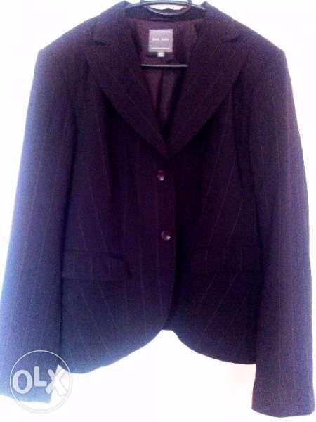 MARC AUREL Дизайнерско дамско черно сако - 42 L