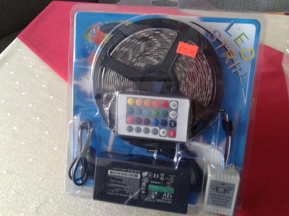 Промо от27лв-Комплект 5м RGB 5050 LED лента, светодиодна, диодна,