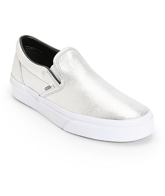 Vans Slip On Silver Metallic