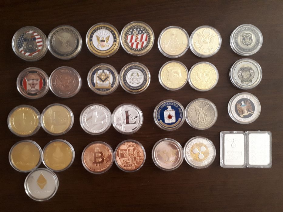Колекционерски монети ФБР ЦРУ CIA NSA FBI масонз police Германия полиц