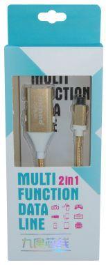 Cablu adaptor OTG, USB A/USB B, tata → micro USB/Iphone 6, tata