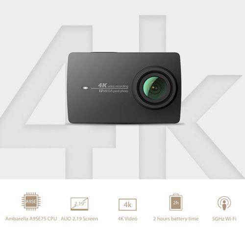 Câmara de Ação Xiaomi Yi 4K( Preta)