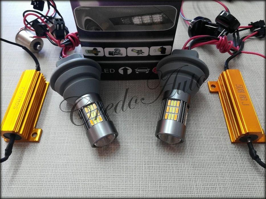 Ново!P21W/T20 DRL Canbus светлини за мигач 62 LED 4014 2х15W -2бр IP65