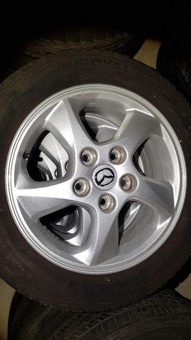 "4бр. оригинални джанти Mazda 15"" 5x114,3 / Uniroyal 195/55/15"