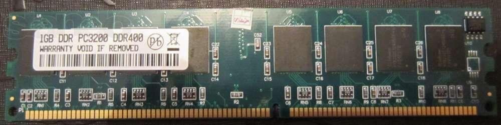 Оперативная память DDR1 400 PC3200 1 GB для персонального компьютера .