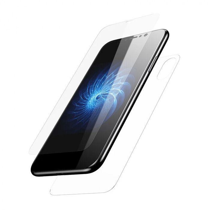Folie sticla fata spate tempered glass pt iPhone 6 7 8 si x și plus