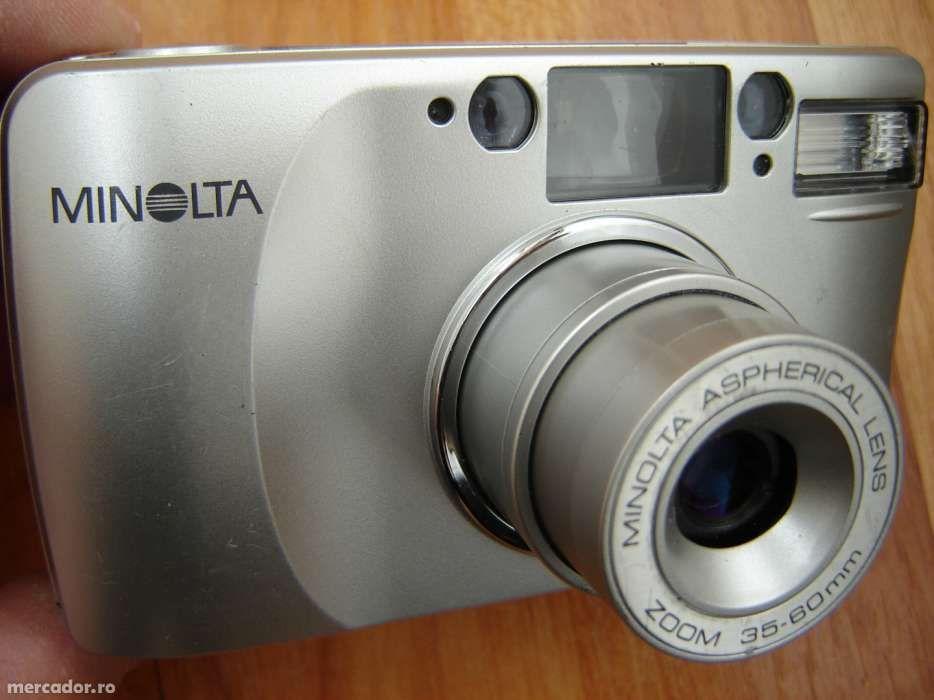 Aparat foto Minolta cu film automat cu baterii normale(mijloci)