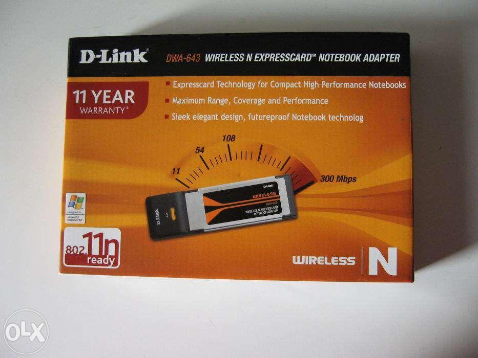 Adaptor Wireless N D-Link DWA-643 ExpressCard, nou