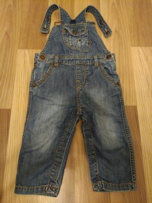 Salopeta de blugi Zara 9-12 luni