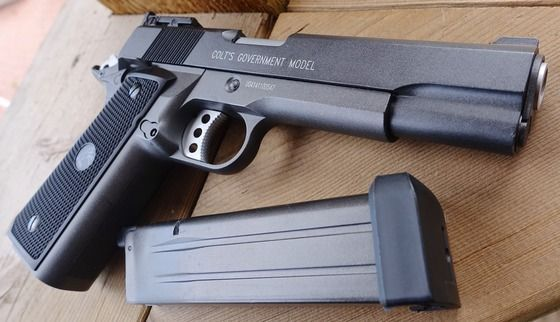 Pistol COLT 1911 .50AE /FULL AUTO CO2 CyberGun /Airsoft pusca gaz arma