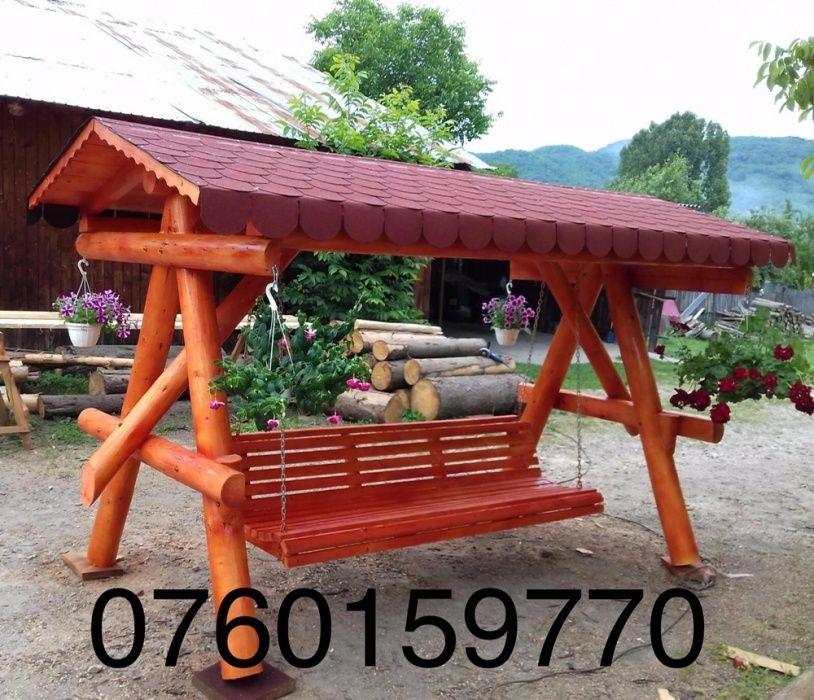 Balansoar din lemn , rustic