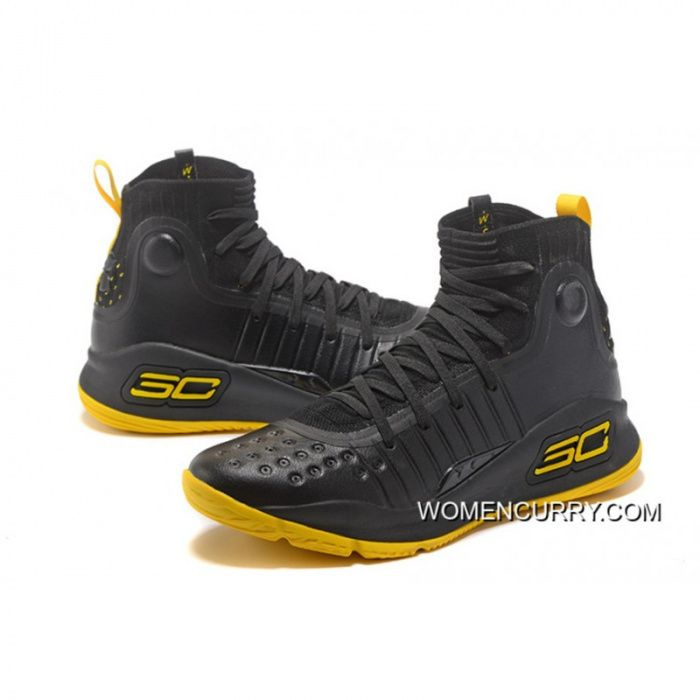 Under Armour Curry 4 Black Yellow