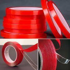 Скотч-клей прозрачный двухстороний водостойкий силиконовый 5мм/33метра