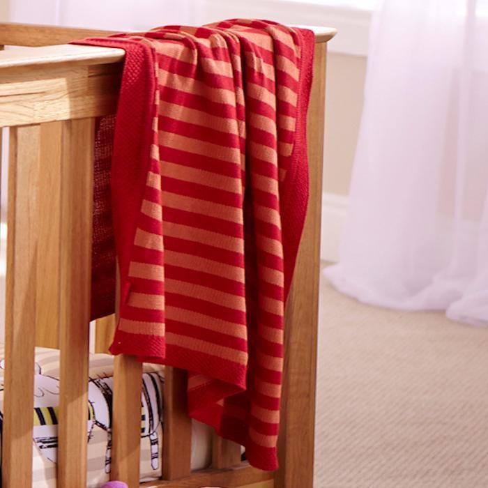 Ново плетено памучно одеало за бебе