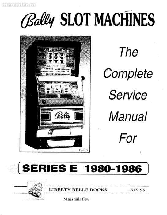 Manual Complect Service BALLY SLOT MACHINE serie E 1980-1986