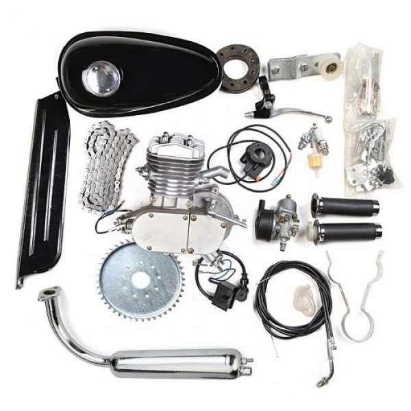 Велодвигател, двигател за колело, бензинов 50 кубика, 80цц кубика