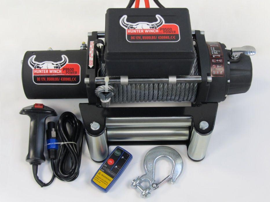 Лебедка Hunter Winch P9500 POWER 12V 9500lbs гр. Бургас - image 1