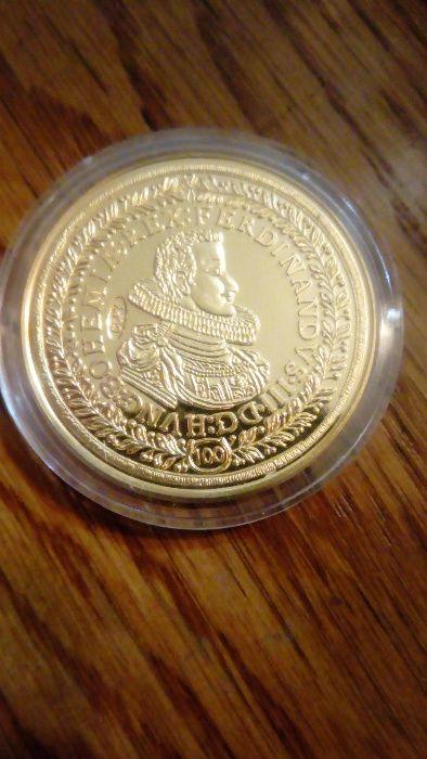 Medalie Ferdinand al lll-lea - replica aurita UNC