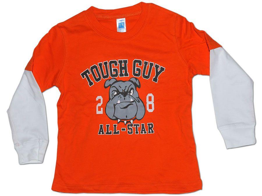 Tricou portocaliu pentru baieti
