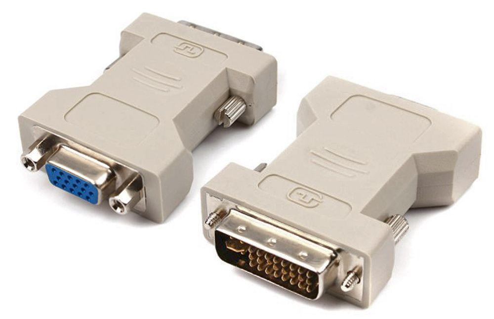 Adaptor mufa placa video conector DVI la cablu VGA