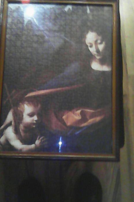 Tablou puzlle cu Fecioara Maria si Isus