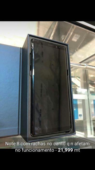 Galaxy Note 8 com rachas 2meses de uso com todos componetes
