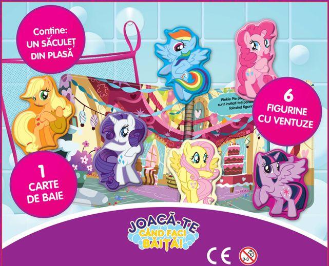 My little pony - carte pentru baie si figurine cu ventuze