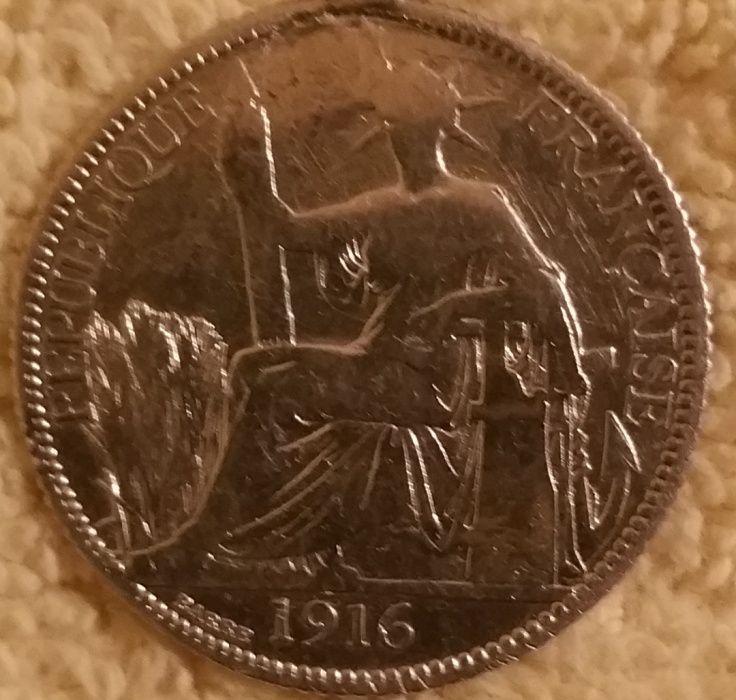 Moneda argint 20 centimes 1916