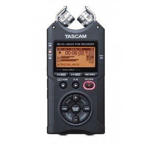 Recorder portabil digital Tascam DR-40 cu doua microfoane, pt nunti