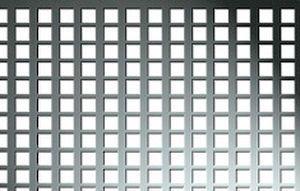 Tabla aluminiu perforata 1x1000x2000mm perforatii patrate