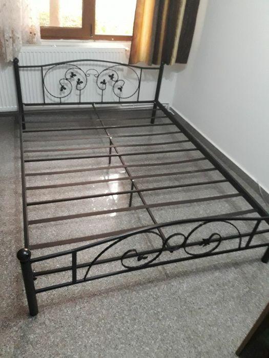 Pat metalic, fier forjat, 140/200 pat matrimonial, pat dormitor