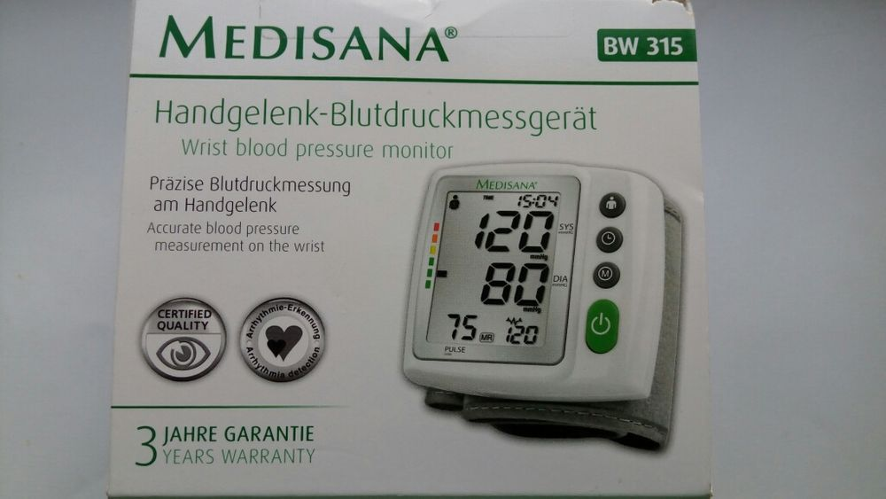 Tensiometru digital MedisanaGermany BW315 Aritmie Calcul valori medii