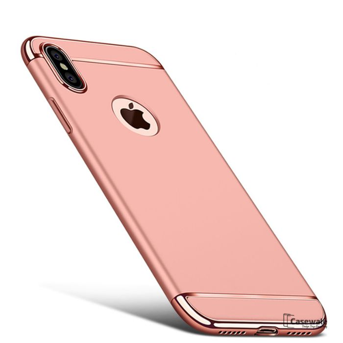 Husa Elegance Luxury 3 in 1 pentru Apple iPhone X Rose-Gold