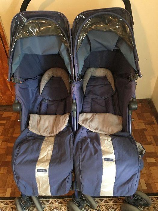 количка за близнаци Maclaren + количка Hauck