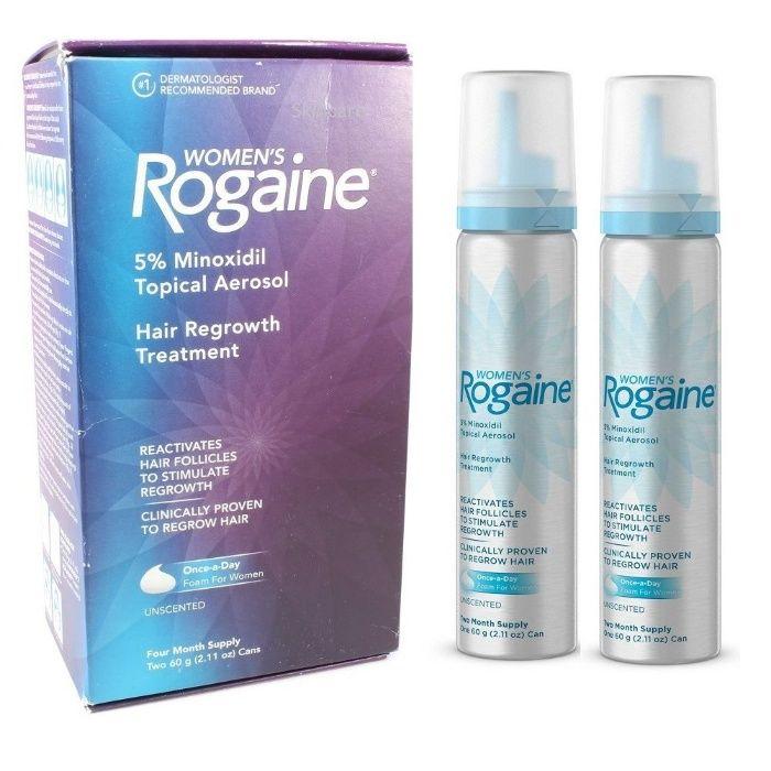 Rogaine Minoxidil Femei - Spuma 5% - Tratament 4 Luni