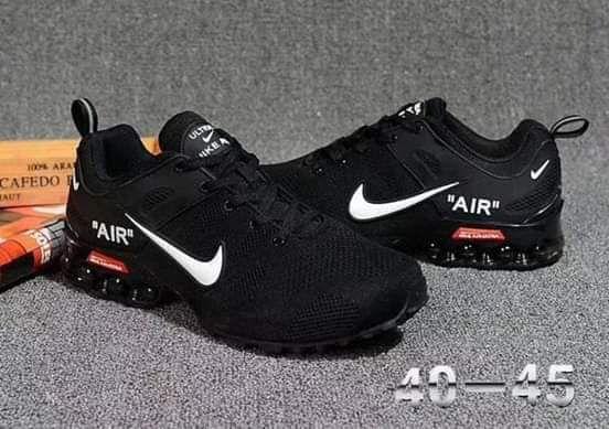 Nike air preta & branca raza