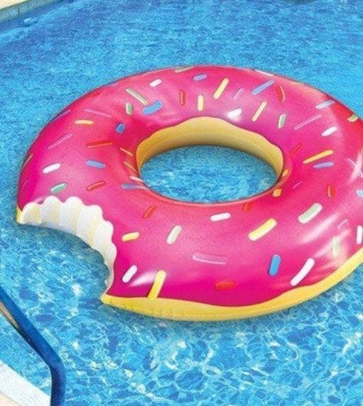 надувной плавательный круг пончик 90 см