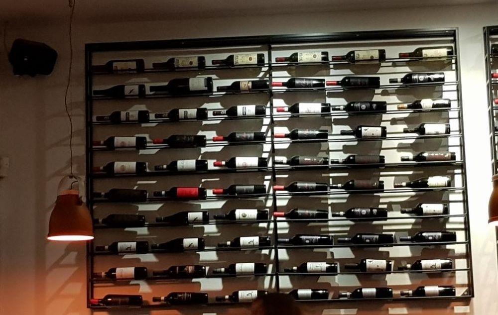 Raft de vin, raft perete vin, suport vin fier ,fier forjat.VINOTECA