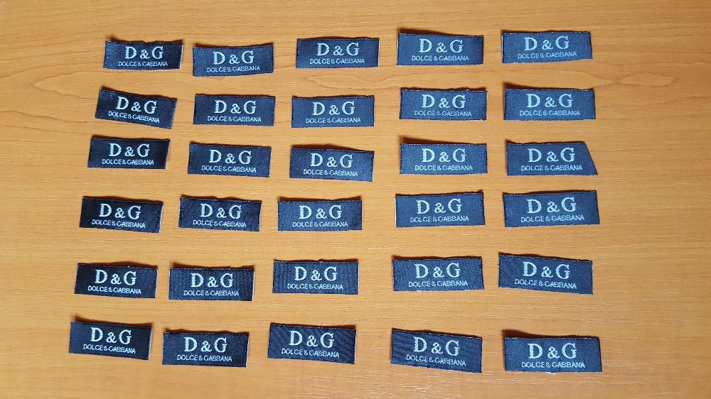Dolce & Gabbana Designer emblema/logo textil pentru colectionari