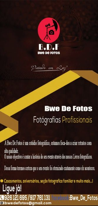 Serviços de Fotografia para todo tipo de Evento